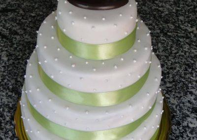 Zöld masnis torta