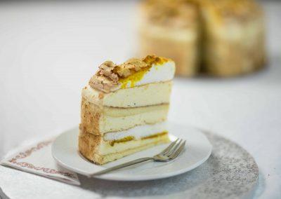 Madártej torta szelet