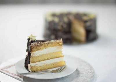 Túró torta szelet
