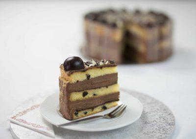 Szatmári szilva torta szelet