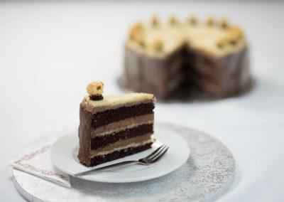 Német csoki torta és szelet