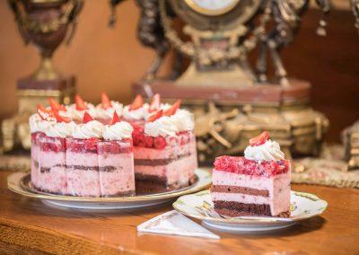 Gyümölcs torta, tortaszelet