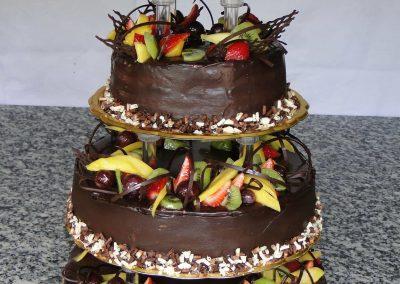 Csokis gyümölcs torta
