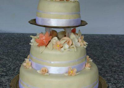 Ezüstszalag torta