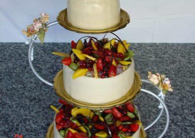 Gyümölcskosár torta